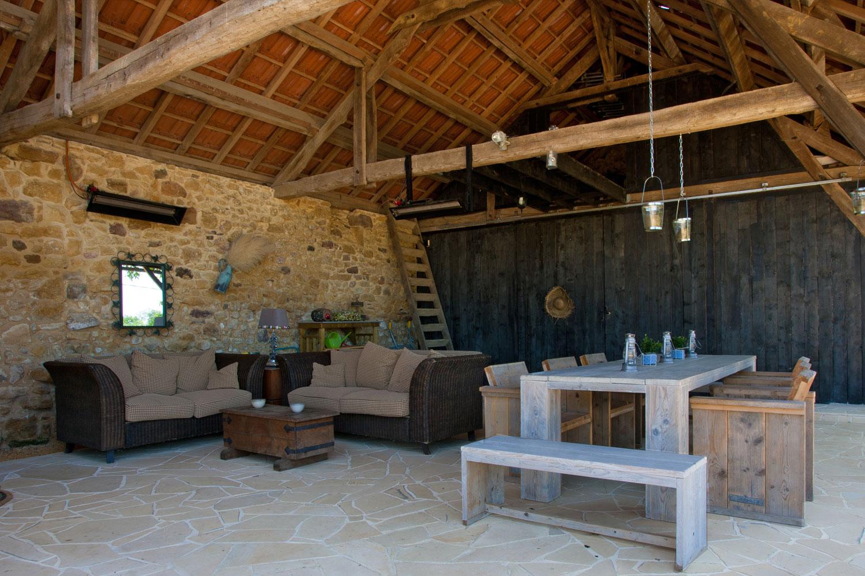 overdekte veranda dordogne vakantie frankrijk